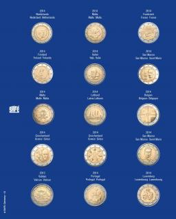 1 x SAFE 7822-12 TOPset Münzblätter Ergänzungsblätter Münzhüllen für 15x 2 Euromünzen Jahrgang 2014 - Vorschau 1