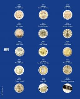 1 x SAFE 7822-13 TOPset Münzblätter Ergänzungsblätter Münzhüllen für 15x 2 Euromünzen Jahrgang 2014 - 2015