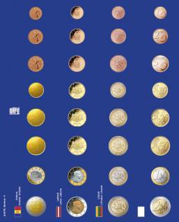 1x SAFE 7317-6 TOPset Münzblätter Ergänzungsblätter 4 x Euromünzen KMS Kursmünzensätze in Münzkapseln neue Länder z.B. Andorra & Lettland - Vorschau 1