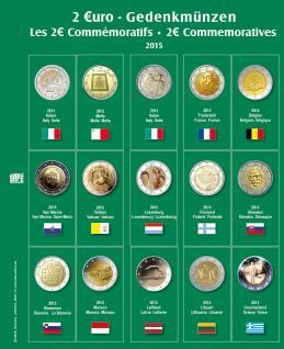 SAFE 7341-14 Premium Münzblätter Ergänzungsblätter Münzhüllen 7393 mit Vordruckblättern 2 Euro Münzen Gedenkmünzen 2015 - Vorschau 1