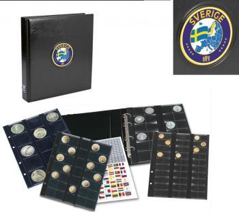 SAFE 7357 PREMIUM MÜNZALBUM SCHWEDEN - SWEDEN - SVERIGE UNIVERSAL mit 4 Münzblättern für 134 Münzen - Vorschau 1
