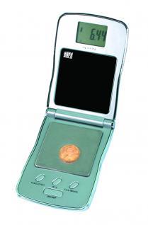 SAFE 9871 Digital Präzisions Waage Münzwaage Feinwaage LCD Anzeige 1/100 g - 0, 01g - 100 g