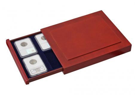 SAFE 6873 Nova Exquisite Münzboxen Schubladenelemente 6 Fächer 84x63 mm Für original US Slabs zertifizierte Münzkapseln