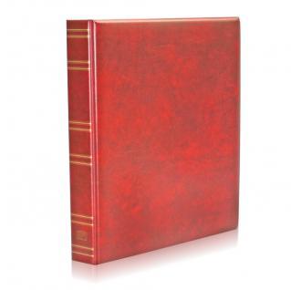 SAFE 5100 Compact A4 Classic Weinrot Rot Sammelalbum Album Ringbinder Für Münzen Briefmarken Postkarten Ansichtskarten Pins Orden Bierdeckel