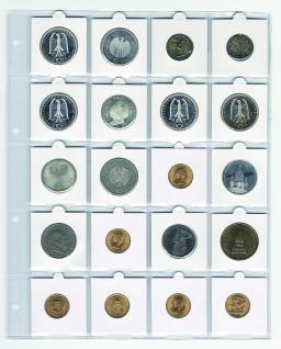 5 x SAFE 433 Compact A4 Münzhüllen Ergänzungsblätter Hüllen Für 20 x Münzrähmchen 50 x 50mm Standard