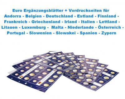 10 x SAFE 8563 Euro Ergänzungsblätter Münzhüllen + farbige Vordruckseiten Für Kursmünzensätze 1 cent - 2 Euromünzen Andorra - Zypern