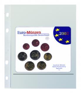 """5 x SAFE 880 Coin Compact Ergänzungsblätter Spezialblätter Münzhüllen 1 Tasche 150 x 230 mm Für 1 x Deutsche Euro KMS """"ST auch ab Jg. 2015"""