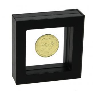SAFE 4503 SCHWEBE RAHMEN FOTORAHMEN BILDERRAHMEN 3D Schwarz Außen 80x 80 mm / Innen 50 x 50x mm Für Münzen & Medaillen