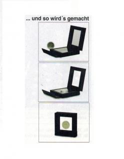 SAFE 4503 SCHWEBE RAHMEN FOTORAHMEN BILDERRAHMEN 3D Schwarz Außen 80x 80 mm / Innen 50 x 50x mm Für Münzen & Medaillen - Vorschau 2