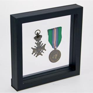 SAFE 4507 SCHWEBE RAHMEN FOTORAHMEN BILDERRAHMEN 3D Schwarz Außen 130 x 130 mm / Innen 100 x 100 mm Für Münzen & Medaillen