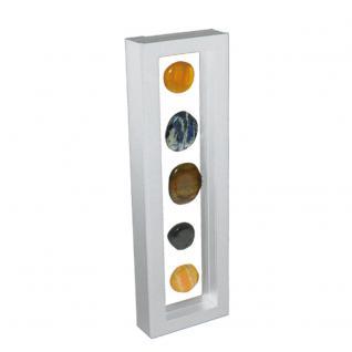 SAFE 4518 SCHWEBE RAHMEN FOTORAHMEN BILDERRAHMEN 3D Weiß Außen 295 x 95 mm / Innen 265 x 60 mm Für Münzen & Medaillen