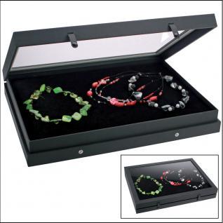 SAFE 5678 Black Edition Sammelvitrinen Vitrinen Setzkasten Für Schmuck Modeschmuck Ketten Coliers Armreifen Armbänder Uhren