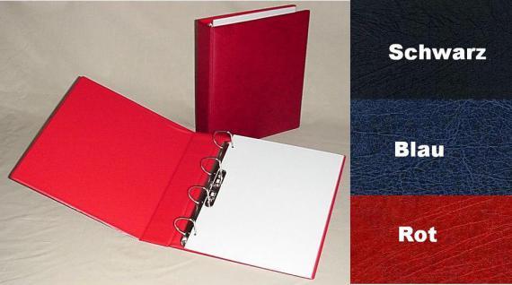 KOBRA G50B Rot Lageralbum Sammelalbum Album A4 (leer) Für FDC ETB Bierdeckel Postkarten Ansichtskarten Banknoten