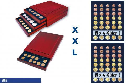 SAFE 6840 XXL Nova Exquisite Holz Münzboxen Schubladenelement mit 2 Tableaus 6340 Für 10 x EURO Kursmünzensätze KMS 1 2 5 10 20 50 Cent - 1 2 €