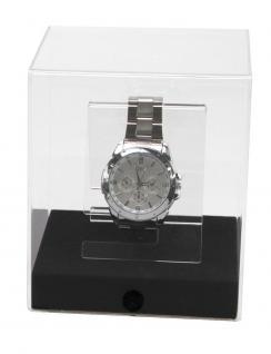 "SAFE 5288 Acryl Präsentations Uhren Vitrinenwürfel "" CUBE L "" Glasklar 120 x 120 x 140 mm Taschenuhren"