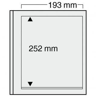 10 x SAFE 7121 EURO-SYSTEM Graue Einsteckblätter Ergänzungsblätter 1 Klemmstreifen 193 x 252 mm - Vorschau 1