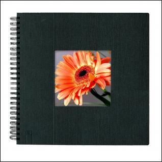 SAFE 5803-5 Design Fotoalbum Classic Schwarz 33 x 33 cm - 40 Seiten + Austauschbares Coverbild