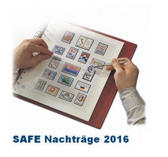 SAFE 250516SP dual Nachträge - Nachtrag / Vordrucke Liechtenstein Kleinbogen 2016