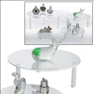 SAFE 55282 Runde ACRYL Präsentationsteller Deko Aufsteller 200 mm für Taschenuhren Uhren Armbanduhren