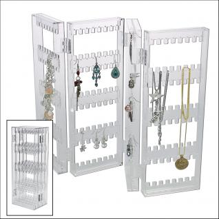 SAFE 73583 Acrylglas Design Schmuckständer Ständer im Paravent Style für Schmuck & Ketten & Ohrringe