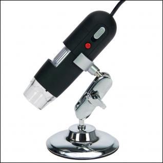 SAFE 9753 Digital Mikroskope II 20 - 800 fach Vergrößerung + Gelenkstativ + 8 LED - USB 2.0 Software