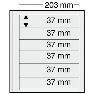 10 x SAFE 7126 EURO-SYSTEM Graue Einsteckblätter Ergänzungsblätter 6 Klemmstreifen 193 x 37 mm - Vorschau 1