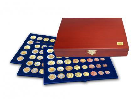 SAFE 5893 Elegance Münzkassetten 3 Tableaus 6340 15 Euro KMS Kursmünzensätze 1 Cent - 2 € Euromünzen in Münzkapseln