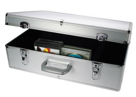 "SAFE 214 ALU Koffer ""CD Silver Star"" Für 144 CD's DVD's Blue Ray Datenträger in Kunststoffhüllen"
