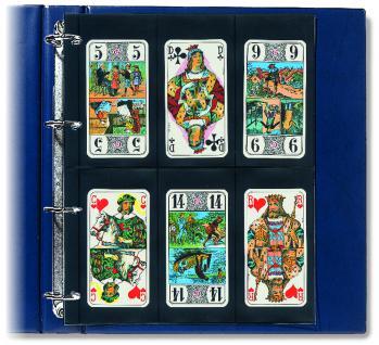 10 x SAFE 477 Compact A4 Einsteckblätter Hüllen Spezialblätter Schwarz 70x145 mm Für 12 Spielkarten - Vorschau