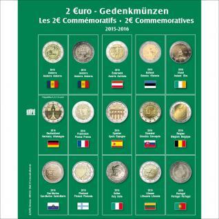 SAFE 7341-16 Premium Münzblätter 7393 mit Vordruckblättern 2 Euro Münzen Gedenkmünzen 2015 - 2016
