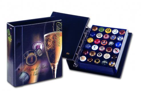 SAFE 7865 Champagner Album Sammelalbum Compact 3 Samttafeln mit Schutzhülle Für 90 Champagnerdeckel Kapseln