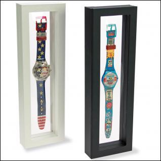 SAFE 4508 SCHWEBE RAHMEN FOTORAHMEN BILDERRAHMEN 3D Schwarz 295 x 95 mm Für Uhren Armbanduhren