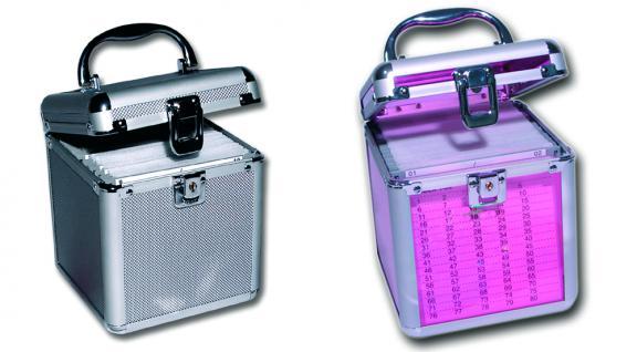 SAFE 171 ALU Koffer CD Acryl Pink Star Für 80 CD's DVD Blue Ray Datenträger in Hängeregistertaschen - Vorschau 3