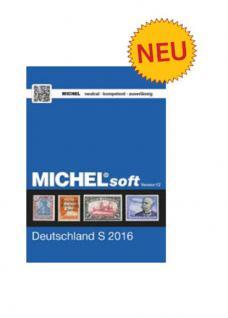 MICHELsoft MICHEL-Daten/Update 2016/ Briefmarken Deutschlard S - PORTOFREI in DEUTSCHLAND