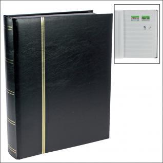 SAFE 148-5 Briefmarken Einsteckbücher Einsteckbuch Einsteckalbum Einsteckalben Album Schwarz 48 weissen Seiten