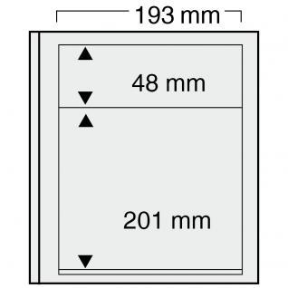 10 x SAFE 7131 EURO-SYSTEM Graue Einsteckblätter Ergänzungsblätter 2 Klemstreifen Mixed 193 x 48 & 193 x 201 mm