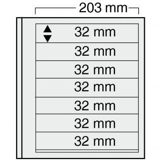 10 x SAFE 7127 EURO-SYSTEM Graue Einsteckblätter Ergänzungsblätter 7 Klemmstreifen 193 x 32 mm