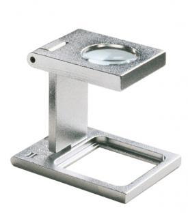 LINDNER 7177 Eschenbach Metall Lupe Standlupe Fadenzähler 8 fache Vergrößerung Linse 17, 6 mm