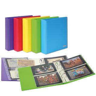 LINDNER S3540PK - 1 - Berry Rot Postkartenalbum Album PUBLICA M COLOR + 10 Hüllen Für Postkarten - Fotos - Bilder