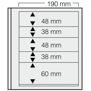 5 x SAFE 605 dual Blankoblätter Einsteckblätter Ergänzungsblätter mit je 2 Taschen 190x48 & 2 Taschen 190x38 mm & 1 Tasche 190x60 mm Für Briefmarken Banknoten Postkarten Briefe