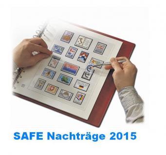 SAFE 2054SO15 dual Nachträge - Nachtrag / Vordrucke UNO Wien Kleinbogen Grußkarten - 2015