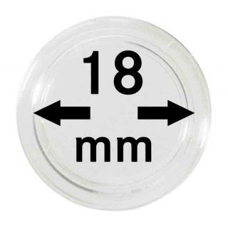 10 LINDNER Münzkapseln / Münzenkapseln Capsules Caps 18 mm 2250018P