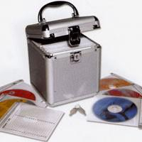 "SAFE 170 ALU Koffer ""CD Silver Star"" Für 80 CD's DVD's Blue Ray Datenträger in Hängeregistertaschen"