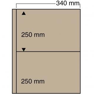 5 x SAFE 6052 Ergänzungsblätter mit 2 Taschen 340x250 mm mit sandfarbenen ZWL Für das ALbum 6055