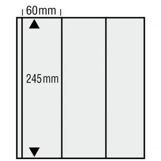 10 x SAFE 573 Ergänzungsblätter Variant + sandfarbenen ZWL mit 3 Taschen Vertikal 60 x 245 mm