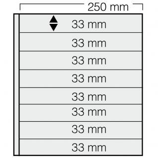5 x SAFE 738 Einsteckblätter GARANT Schwarz beidseitig nutbar 8 Taschen 250 x 33 mm Für Briefmarken Briefe Sammelobjekte