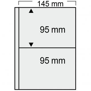 10 SAFE 7869 Compact Ergänzungsblätter Hüllen 2 Taschen 145 x 95 mm + sandf. ZWL Für alte Postkarten , alte Ansichtskarte , Banknoten - Vorschau 1