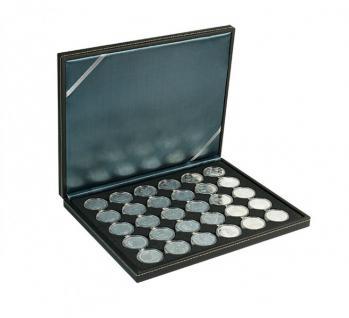 LINDNER 2364-2537CE Nera M Münzkassetten Einlage Carbo Schwarz für 30 x Münzen bis 37 mm & 10 Euro DM in orig Münzkapseln 32, 5 PP