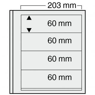 10 x SAFE 7124 EURO-SYSTEM Graue Einsteckblätter Ergänzungsblätter 4 Klemmstreifen 193 x 60 mm