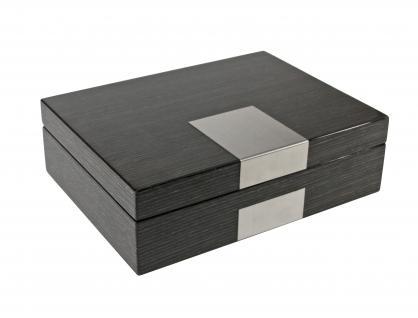 safe 7987 dunkle design holz hochglanz schmuckschatulle schmuckkassette uhrenschatulle. Black Bedroom Furniture Sets. Home Design Ideas